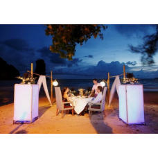 Romantic Dinner On The Beach Set Up - 1